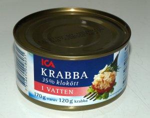 Prøv også Ica krabbekjøtt i vann.