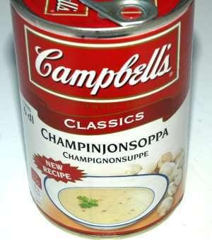 Bilde av Campbells sjampinjongsuppe.