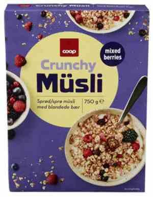 Prøv også Coop Musli Crunchy Bær.