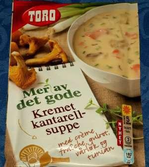Bilde av Toro kremet kantarellsuppe tilberedt.