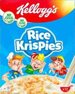 Prøv også Kelloggs Rice Krispies.