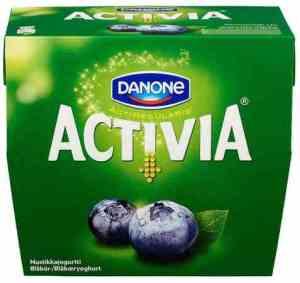 Prøv også Danone Activia Blåbær.