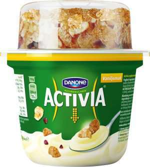 Prøv også Danone Activia Vanilje med branflakes og frukt.