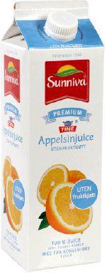 Bilde av Tine Sunniva Premium Appelsinjuice uten fruktkjøtt.