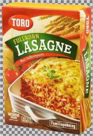 Prøv også Toro Fullkorn Lasagne Familiepakning.