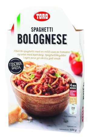 Prøv også Toro Velbekomme Spagetti med kjøttsaus.