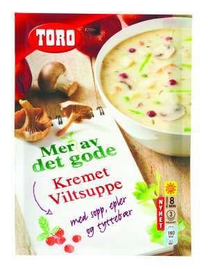 Prøv også Toro Kremet Viltsuppe med sopp, epler og tyttebær.