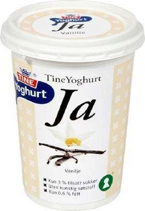 Bilde av Tine yoghurt ja vanilje.