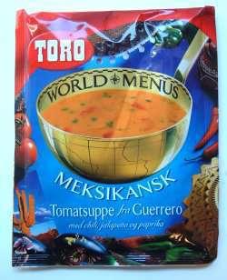 Bilde av Meksikansk tomatsuppe fra Guerrero med chili, jalapeno og paprika.