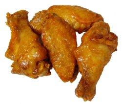 Prøv også Kylling, vinger med skinn, ovnstekt.