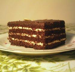 Bilde av Sjokoladekake, med glasur.