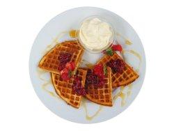Bilde av Vafler med egg, lettmelk, uten fett.