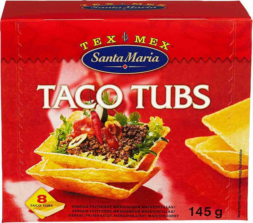 taco tubs kcal