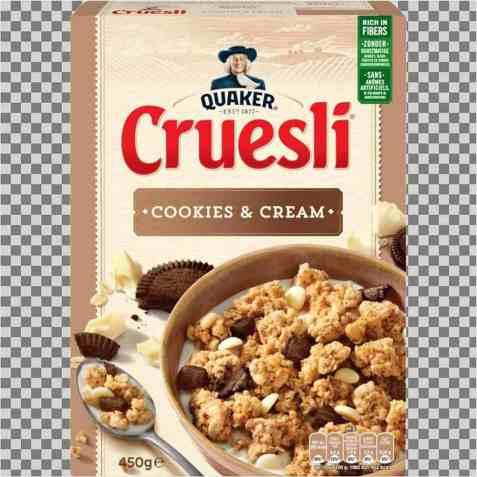 Bilde av Quaker crusli cookies and cream.