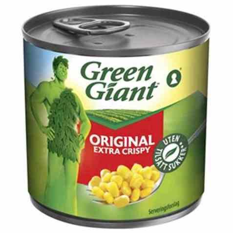 Bilde av Green Giant Original extra crispy.