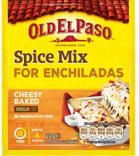 Bilde av Old el paso Enchilada Spice Mix.