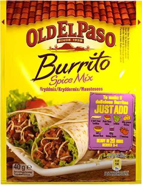 Bilde av Old El Paso Burrito Spice Mix.