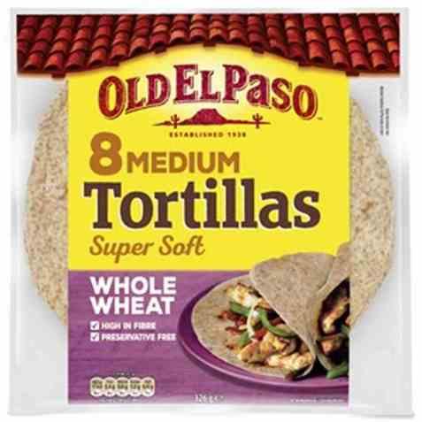 Bilde av Old El Paso Tortilla fullkorn medium.
