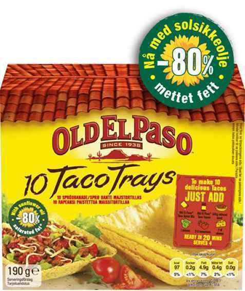 Bilde av Old El Paso Taco Trays.