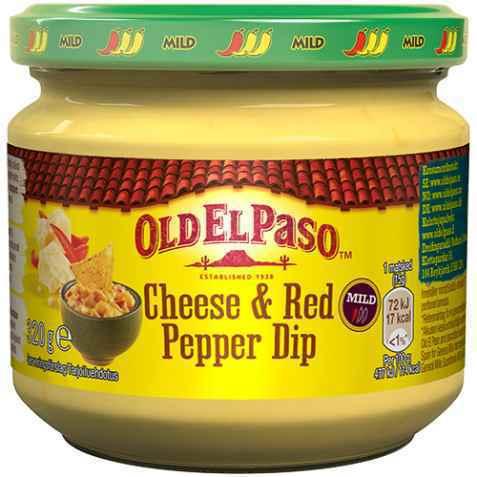 Bilde av Old El Paso Cheese & Red Pepper Dip.