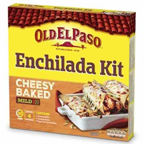 Bilde av Old El Paso Enchilada Dinner Kit.