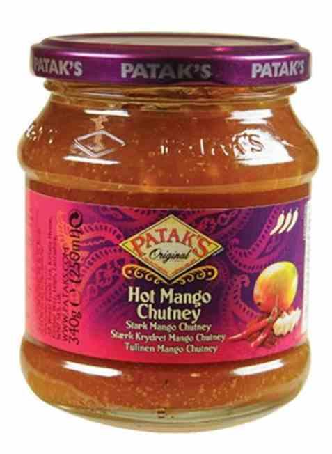 Bilde av Pataks hot mango chutney.
