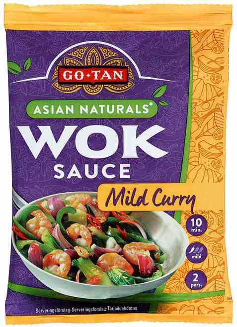 Bilde av Go-tan Asian Naturals woksaus Mild curry.