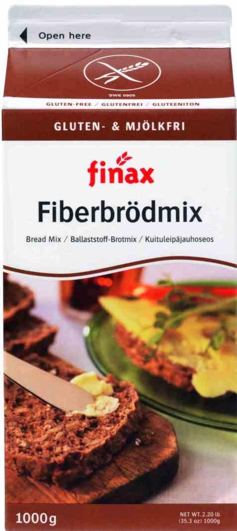 Bilde av Finax Glutenfri Fiberbröd Mix (mjölkfri).