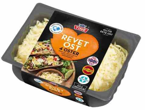Bilde av Tine Revet ost 4 oster.