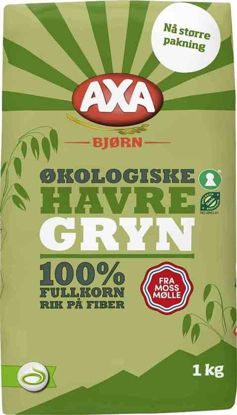 Bilde av Axa Bjørn havregryn økologisk.