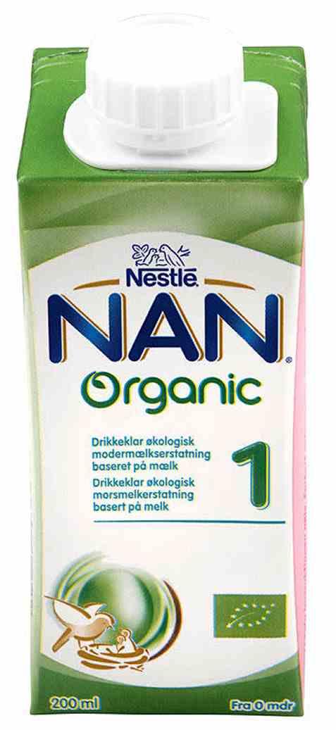 Bilde av Nestle nan 1 drikkeklar økologisk fra fødsel.