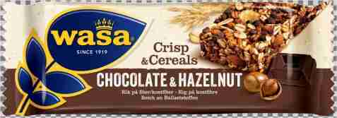 Bilde av Wasa Crisp & Cereals hasselnøtter og sjokolade.