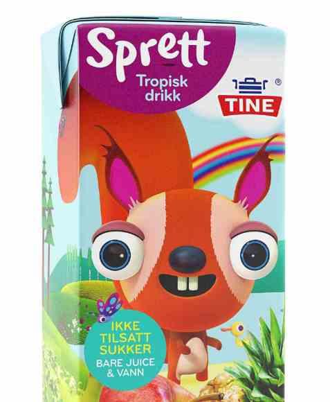 Bilde av Tine sprett tropisk drikk.