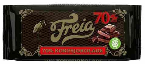 Bilde av Freia mørk kokesjokolade.