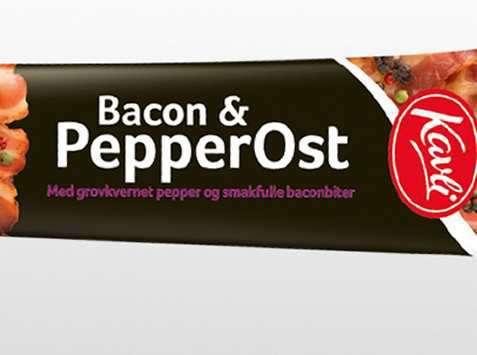 Bilde av Kavli mer smak bacon og pepperost.