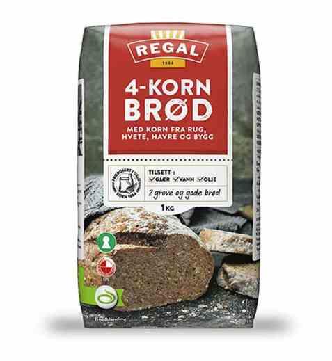 Bilde av Regal 4korn brød.