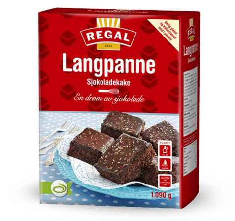 Bilde av Regal Langpanne sjokoladekake.
