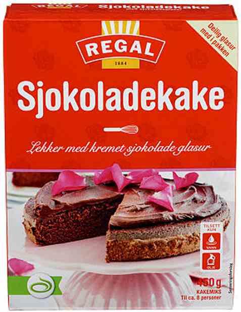 Bilde av Regal sjokoladekake.