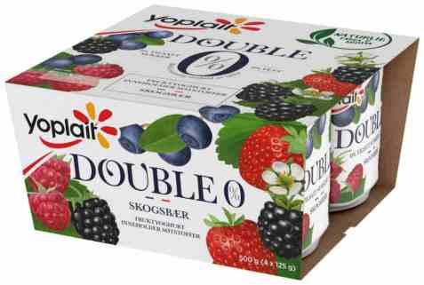 Bilde av Yoplait Dobbel 0 prosent Skogsbær 4 x 125 g.