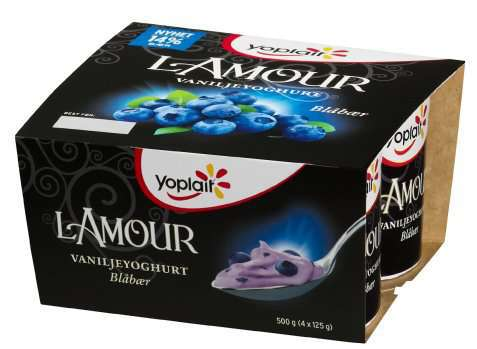 Bilde av Fjordland Yoplait Lamour Vanilje med blåbær.