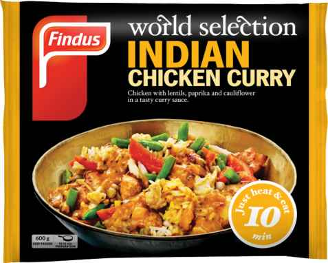 Bilde av Findus indian Chicken Curry.