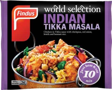 Bilde av Findus indian Tikka Masala.