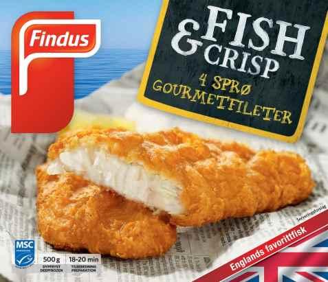 Bilde av Findus Fish & Crisp Gourmetfiléer.