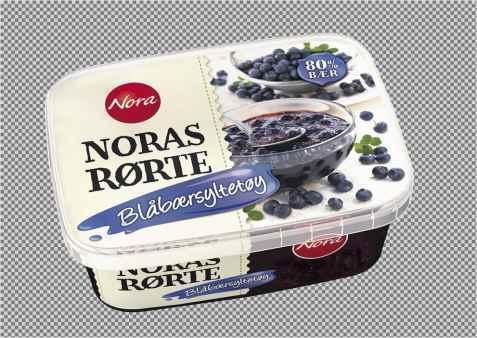 Bilde av Noras Rørte Blåbærsyltetøy.