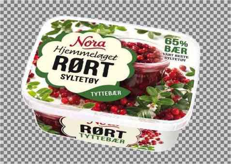 Bilde av Noras Rørte Tyttebærsyltetøy.