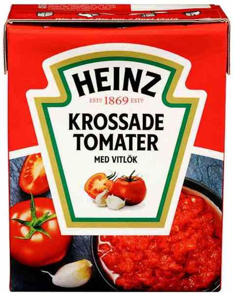 Bilde av Heinz Hakkede Tomater med Hvitløk.
