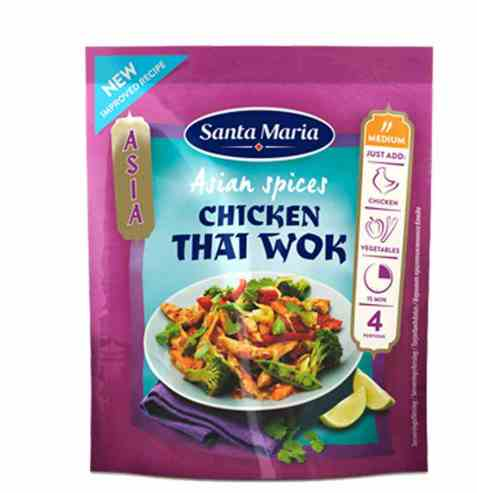 Bilde av Santa Maria Chicken Thai Wok Spice Mix.