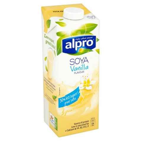 Bilde av Alpro soya vanilje 1 liter.