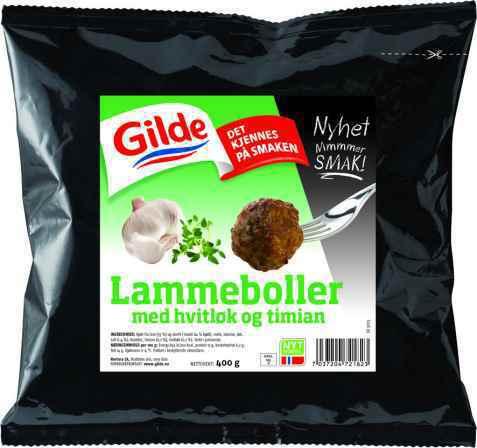 Bilde av Gilde lammeboller med hvitløk og timian.