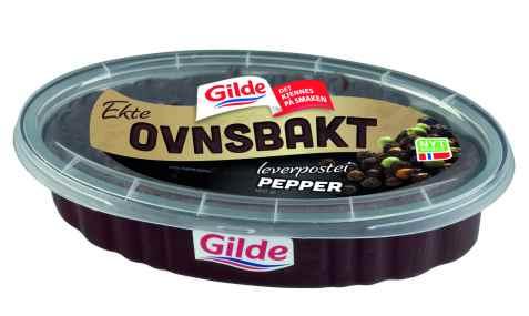 Bilde av Gilde ekte ovnsbakt leverpostei med pepper.